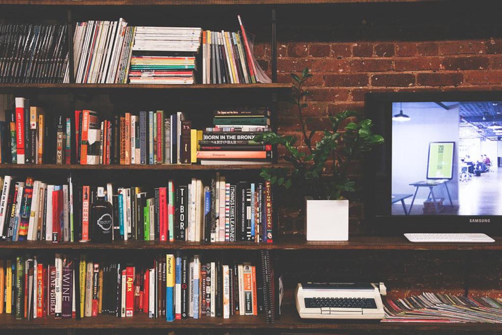 pared con libros