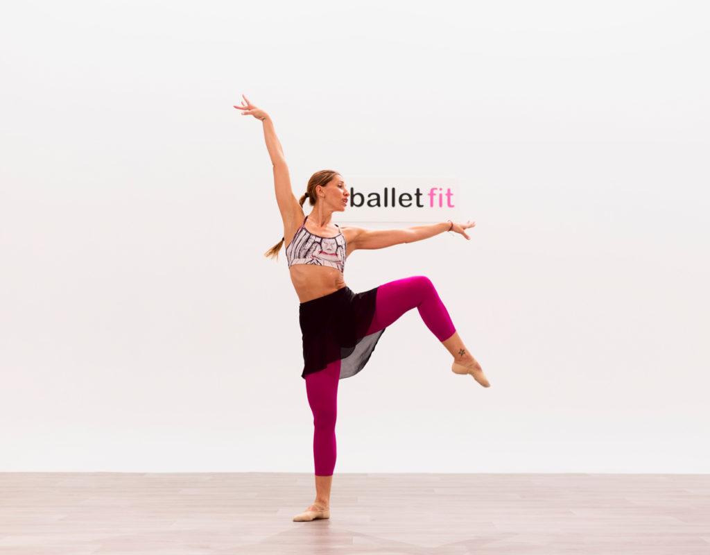 chica practicando ballet
